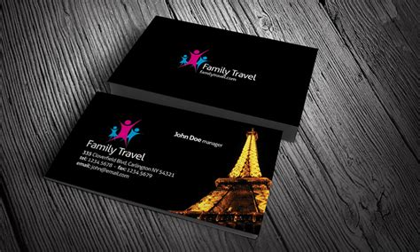 travel tour eiffel tower business card template 187 free