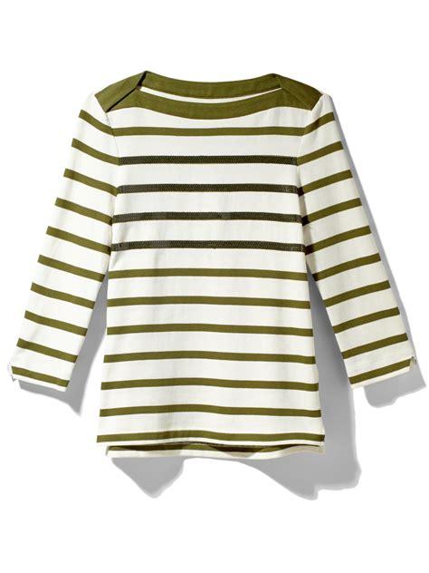 Kate Spade Alma 03956 Semiori kate spade stripe boatneck in green alma green lyst