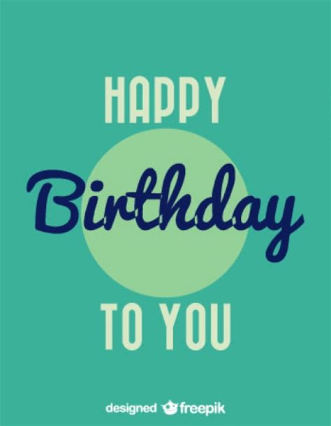 happy birthday minimal design happy birthday vintage stil karte design download der