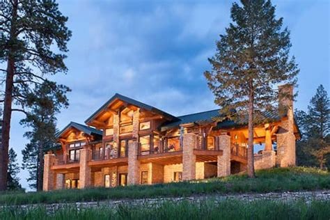 colorado log and timber frame homes by precisioncraft