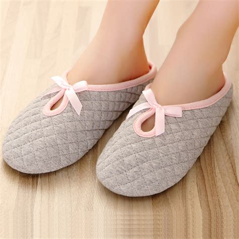 slippers for home bow home slippers for cotton padded indoor bedroom