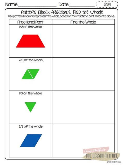 pattern block math worksheets tons of free fraction printables fraction circles
