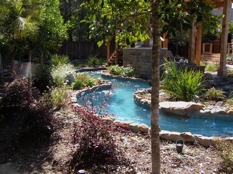 keller lazy river rustic pool dallas by pools of