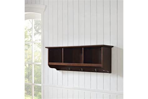 entryway storage shelf brennan entryway storage shelf in mahogany by crosley at