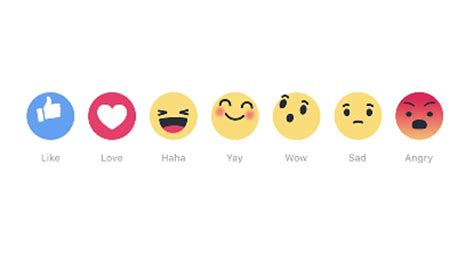 fb reaction facebook reactions the alternatives to likes are here