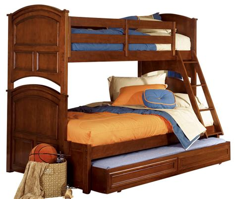 Lea Bunk Beds Lea Deer Run Bunk Bed In Brown Cherry Traditional Bunk Beds By Beyond Stores