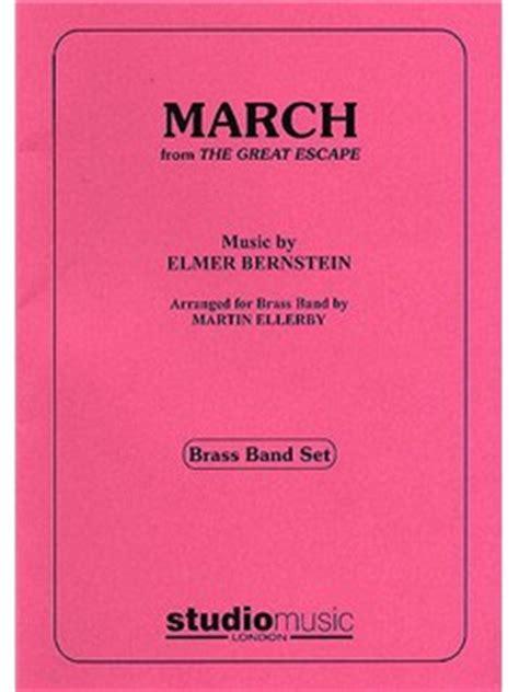 elmer bernstein march  great escape brass band set