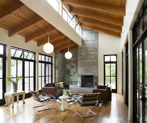 Open Plan Kitchen Living Room Flooring by Gustave Carlson Design Modern Barn