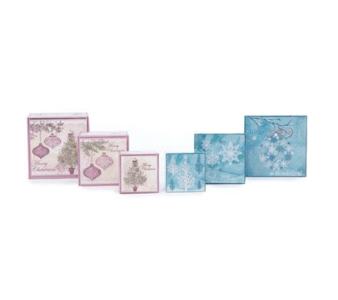 qvc christmas packaging lindy bowman 6 embossed gift boxes page 1 qvc uk