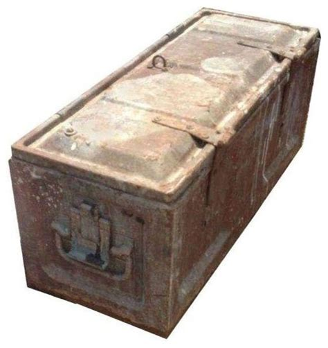 pre owned metal storage box industrial decorative boxes
