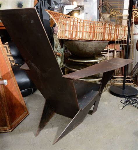 Adirondack Style Chairs by A Unique Pair Of Steel Adirondack Style Chairs At 1stdibs