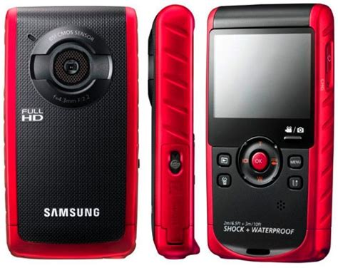 Kamera Samsung Waterproof samsung hmx w200 waterproof pocket hd camcorder