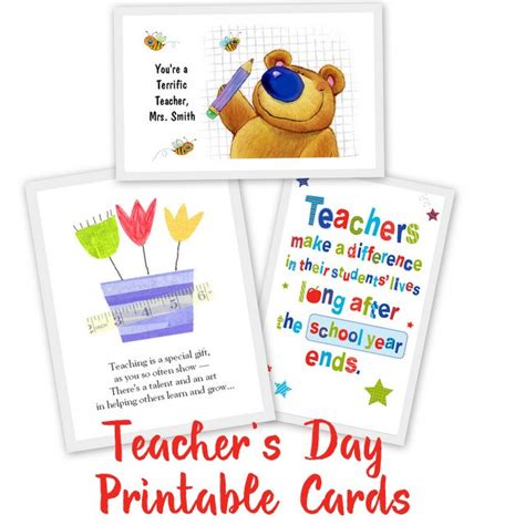 free classroom picture card templates printable 20 awesome teachers day card ideas with free printables