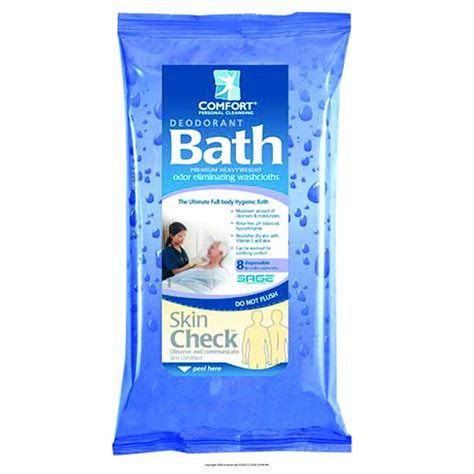 deoderant comfort bath cleansing washcloths products