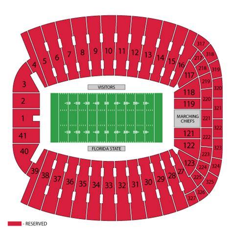florida state stadium seating chart florida state seminoles football tickets florida state