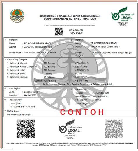 dokumen pengangkutan kayu hutan produksi terbaru 2016