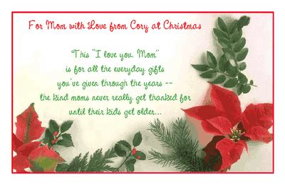 mom  love greeting card christmas printable card american