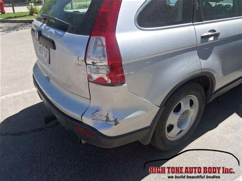 honda cr  collision repair rear bumper tailgate rear stop lights