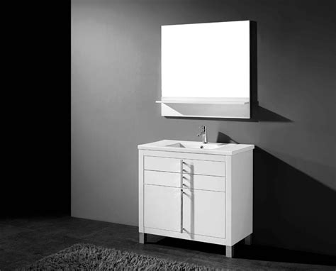 Country White 30 Inch High Adornus Turin 30 Inch White Modern Bathroom Vanity Free