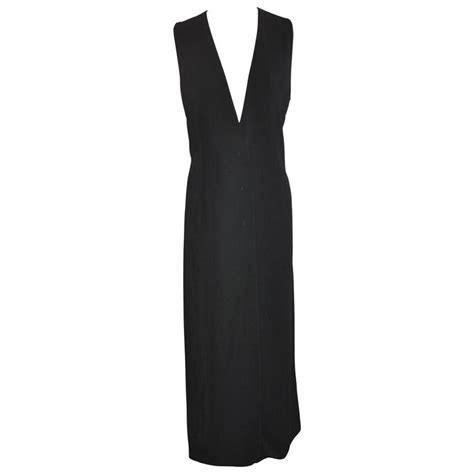 At Maxi 38 Navy yoshji yamamoto navy quot runway quot maxi dress for sale at 1stdibs