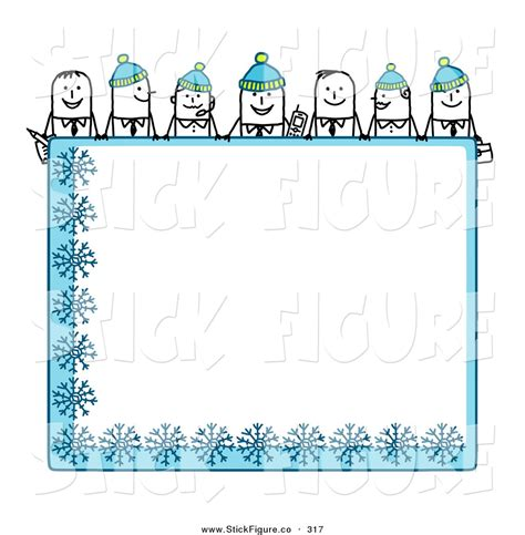 winter clip frame clipart winter pencil and in color frame clipart