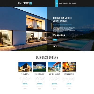 3197 Psd Templates Psd Photoshop Web Templates Template Monster Real Estate Page Template