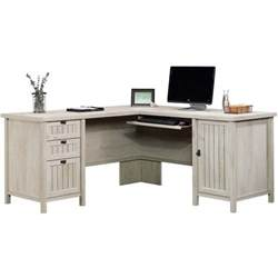 Sauder L Shaped Desk With Hutch Sauder Costa L Shaped Computer Desk With Hutch In Chalked Chestnut 419956 58 Kit