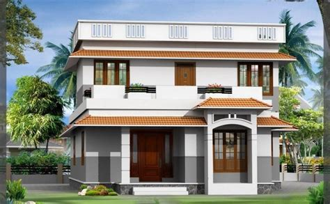 front design of duplex house in indian style studio