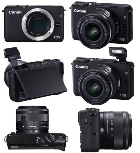 Lensa Canon Eos M10 canon eos m10 mirrorless digital with 15 45mm lens black at hunts photo