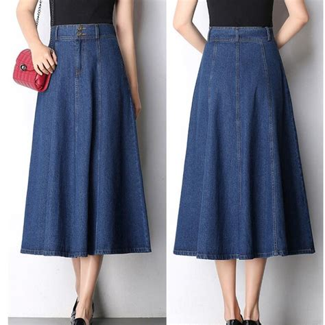 7 Favorite Winter Skirts by 2017 Autumn And Winter New Denim Skirt Large