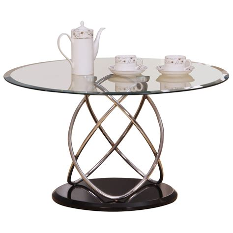 a chromed metal and glass oval dining table designed by chrome glass metal oval coffee table clear black white