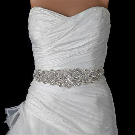Rhinestone Crystal Bridal Belt 315 Sash White or Ivory