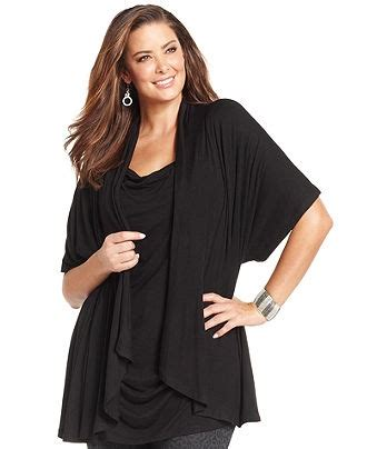 7 Ways To Work The Layered Look by Cha Cha Vente Plus Size Top Sleeve Draped Layered