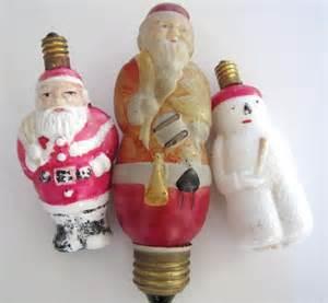 3 vintage christmas tree light bulbs