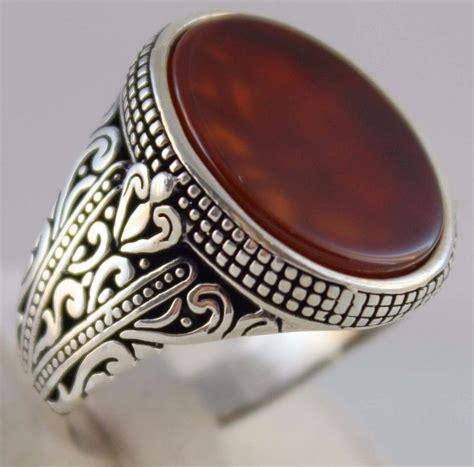925 sterling silver turkish handmade ottoman agate