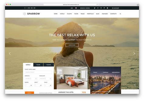 21 Top Creative Html5 Travel Website Templates 2018 Colorlib Travel Booking Website Templates Free