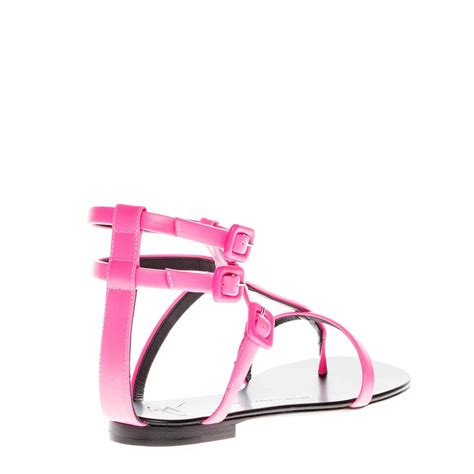 giuseppe zanotti new and sold out pink leather strappy