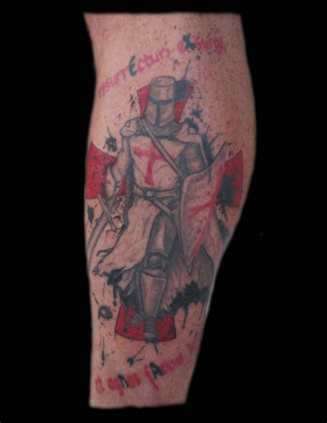 knights templar cross tattoo templar leg cross quot rise till