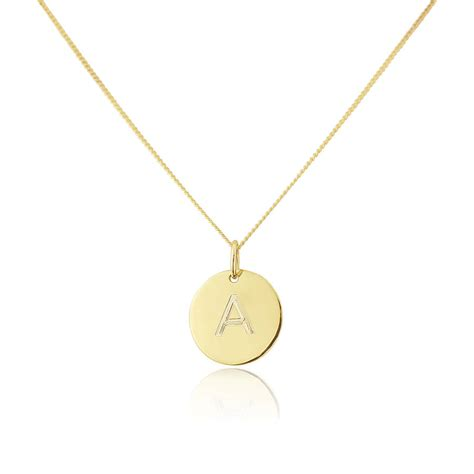 personalised westbourne 9ct gold disc pendant by auree