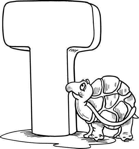Letter T Coloring Page by Free Coloring Pages Of Tracing Letter T