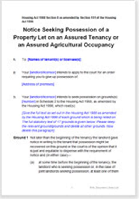section 8 eviction process section 8 notice to terminate a tenancy