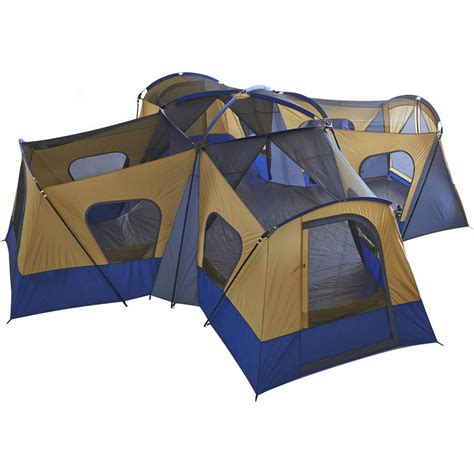 4 room tent new ozark trail base c 14 person cabin tent 4 rooms 20 x 20 set up ebay