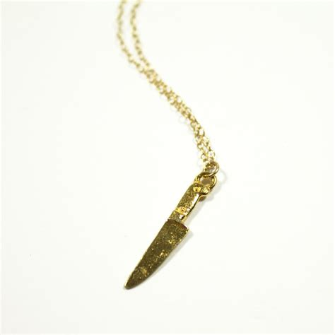 knife necklace knife charm necklace