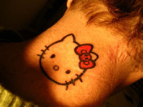 hello kitty bow tattoo hello skull bow hello hell