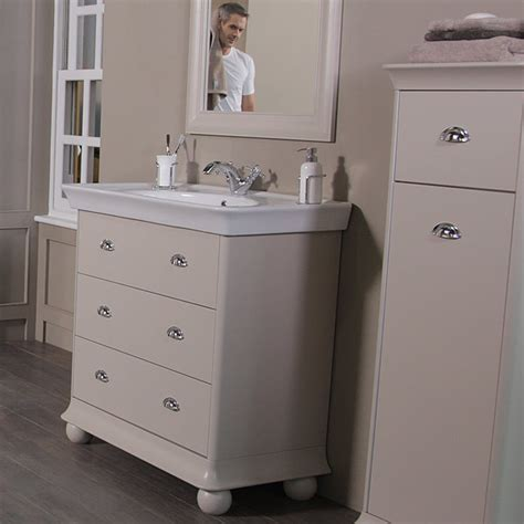 cream bathroom vanity units valencia cream 900mm 3 drawer vanity unit