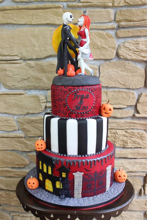 Skellington Cake Decorations by Nightmare Before Skellington An His Sally