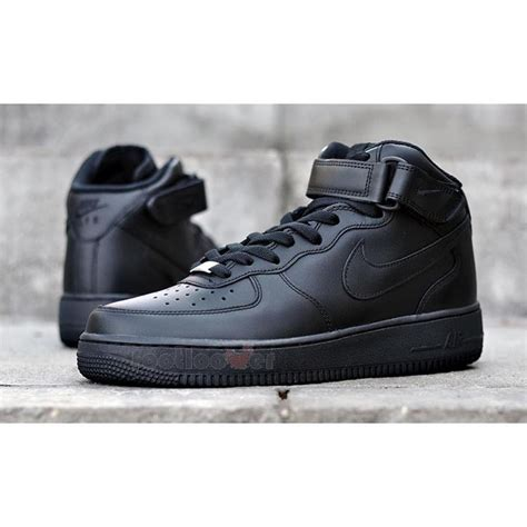 Nike Air One Shoes For shoes nike air 1 one mid 07 315123 001 basket casual moda all black ebay