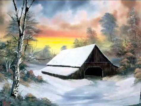 bob ross painting montage bob ross of painting
