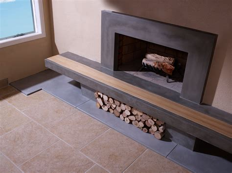 concrete fireplace hearth concrete fireplace hearth with wood inlay and surround