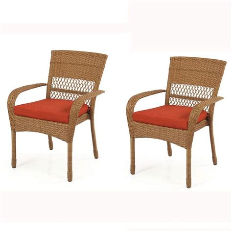 Martha Stewart Living Patio Furniture Cushions Martha Stewart Living Charlottetown All Weather Wicker Patio Dining Chair With Quarry